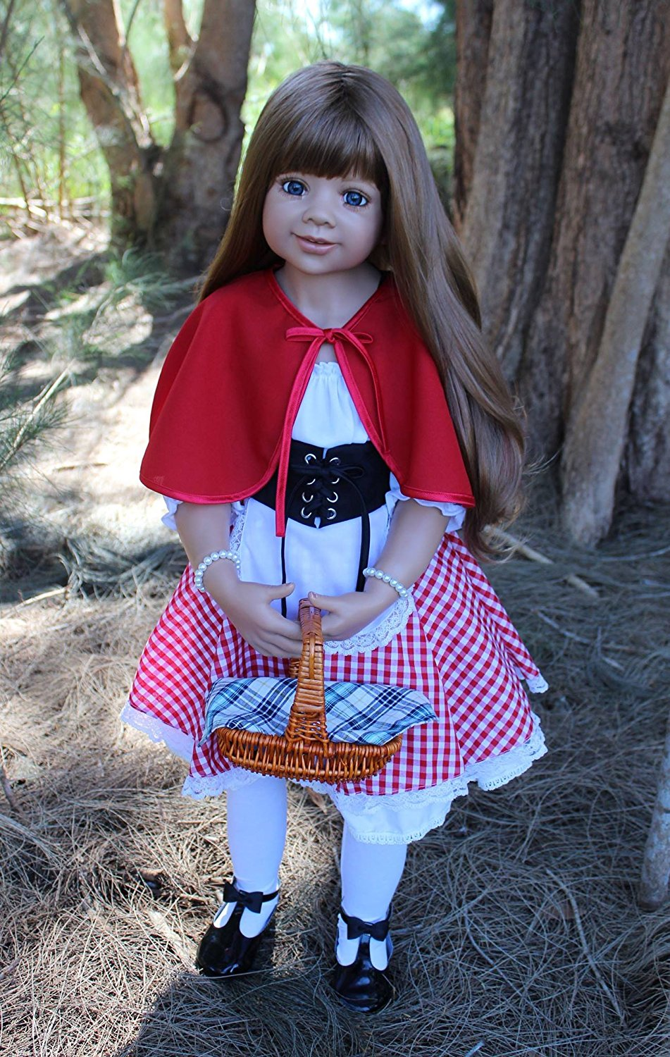 Dolls Little Red Riding Hood Lt Brown With Blue Eyes By