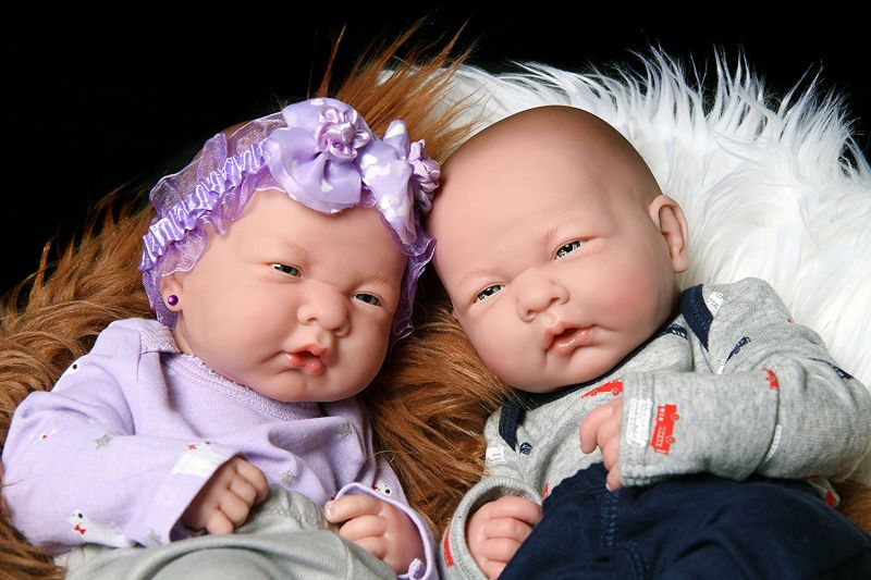 Realistic Reborn Cute Babies Twins Boy And Girl Dolls Pro